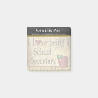 School Secretary | Vintage Style Post-it Notes