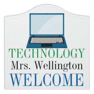School Technology Classroom Door Sign