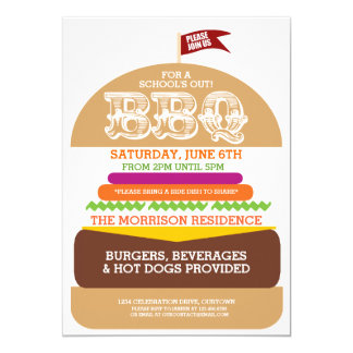 School's Out Barbeque Party Card