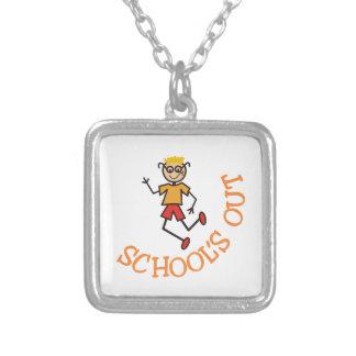 Schools Out Square Pendant Necklace