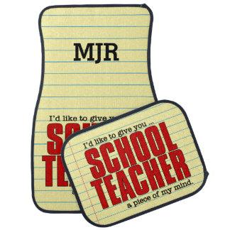 Schoolteacher Piece of Mind | Funny Custom Floor Mat