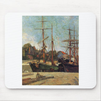 Schooner and three masters by Paul Gauguin Mouse Pad