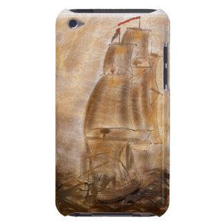 Schooner And Vintage Map iPod Touch Cases