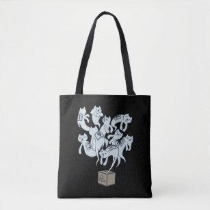 Schrödinger Cat 9 Lives Tote Bag