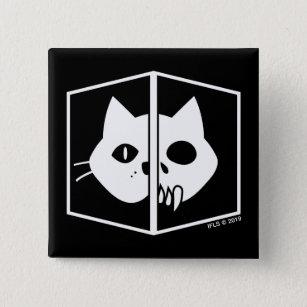 Schrödinger Cat Graphic 15 Cm Square Badge