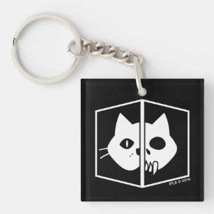 Schrödinger Cat Graphic Key Ring