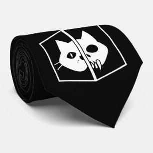 Schrödinger Cat Graphic Tie
