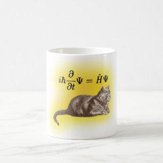 Schrodinger cat basic white mug