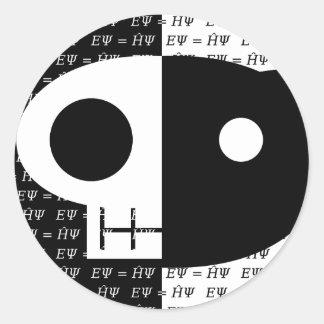 Schrödinger's Cat Round Sticker