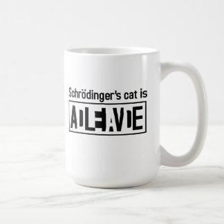 Schrodinger's cat is coffee mug