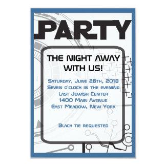 SCI-FI  Bar Bat Mitzvah Invitation Party Card