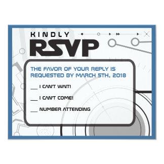 SCI-FI Bar Bat Mitzvah Invitation Reply Card