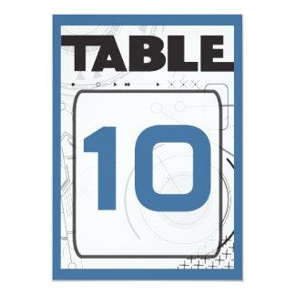 SCI-FI Bar Bat Mitzvah Table Seating Card