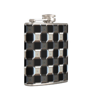 Sci-Fi Metal Patterns 1 Wrapped Flask