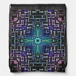 Sci Fi Metallic Shell Drawstring Bag