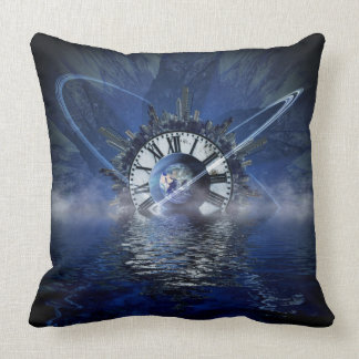 Sci-Fi Time Splash Throw Pillow