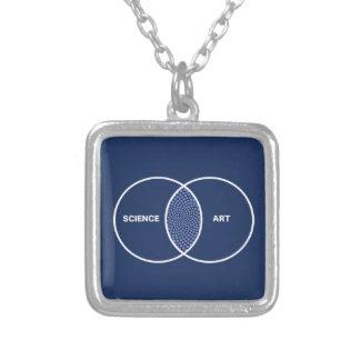Science / Art Venn Diagram Silver Plated Necklace