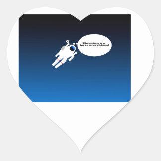 Science Astronaut Heart Sticker
