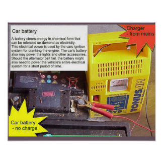 Science, battery charger poster