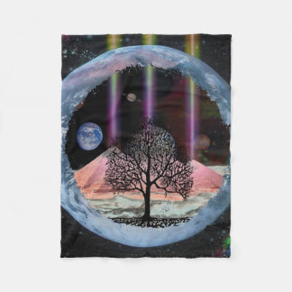 Science Fiction Tree of Life Fleece Blanket