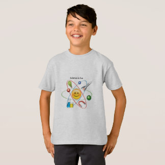 science is fun emoji t-shirt