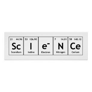 science periodic table elements word chemistry poster - Periodic Table Symbols Into Words