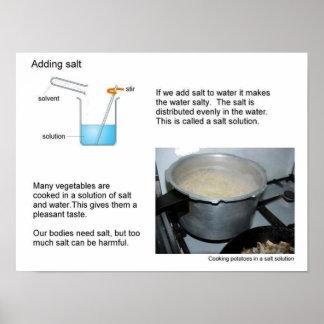 Science, solutions, Salt Poster