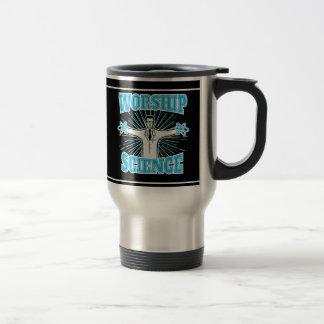 Science Worship Funny Geek & Atheist Anti-Religion Stainless Steel Travel Mug