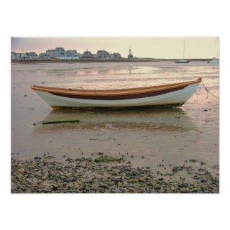 scituate harbor low tide dory poster