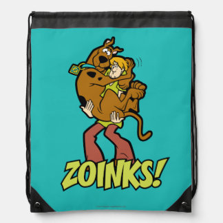 Scooby-Doo and Shaggy Zoinks! Drawstring Bag