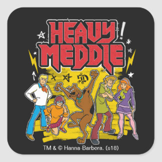"Scooby-Doo | ""Heavy Meddle"" Graphic Square Sticker"
