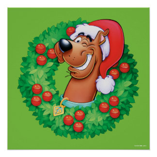 Scooby in Wreath Poster