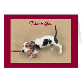 Scooter...Basset Hound Puppy...Thank You!...Card. Card