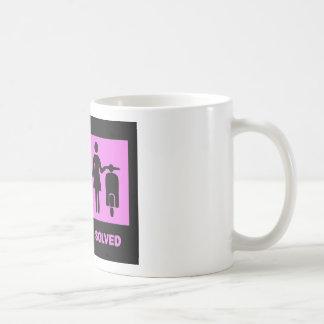 scooter girl no problem pink mug