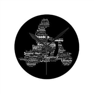 Motivational Words Wall Clocks   Zazzle co nz