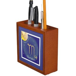 Scorpio 24 October until 22 November pin owner Desk Organiser