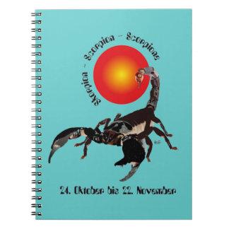 Scorpio - asterisk note booklet notebook