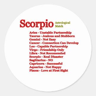 Scorpio Astrological Match The MUSEUM Zazzle Gifts Sticker