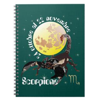 Scorpione 24 ottobre Al 22 novembre Taccuino Spiral Notebook