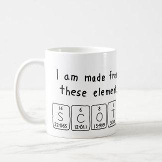 Scot periodic table name mug