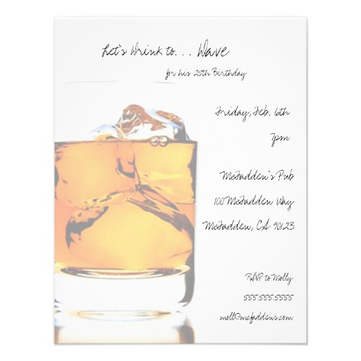 Scotch Birthday Party Invitaitons Custom Announcements