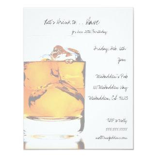 Scotch Birthday Party Invitaitons 11 Cm X 14 Cm Invitation Card