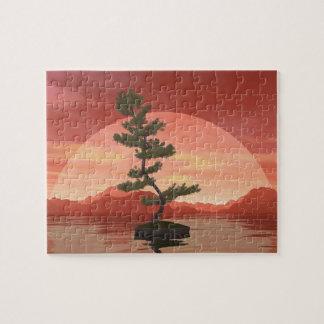 Scotch pine bonsai tree - 3D render Jigsaw Puzzle