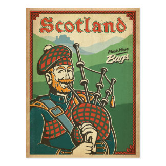 Scotland | Bag Piper Postcard