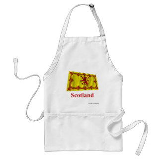 Scotland Lion Waving Flag with Name Standard Apron