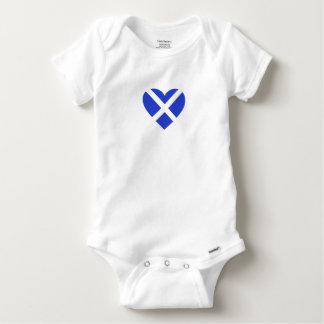 Scotland/ Scottish flag-inspired Hearts Baby Onesie