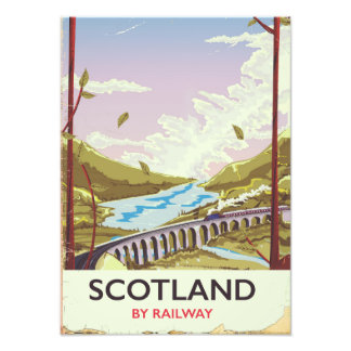 Scotland Vintage locomotive travel poster Photo Print