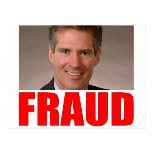 Scott Brown = FRAUD Post Cards