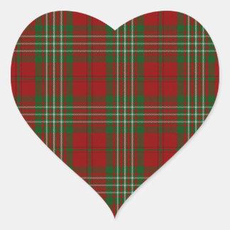 Scott Clan Family Tartan Heart Sticker