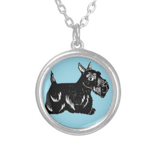 Scottie Dog Blue Necklace